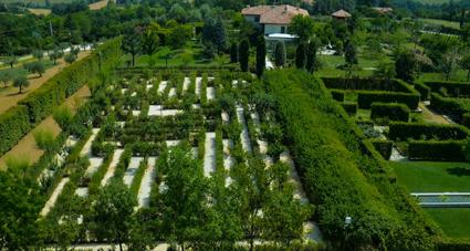 Il labirinto carlico (design Sandro Ricci) di Palazzo di Varignana