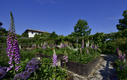 Il giardino ornamentale (design A. Perazzi) di Palazzo di Varignana