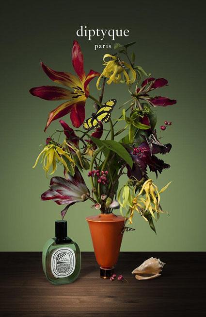 Diptyque, eau Moheli da Impossible Bouquets, edizioni limitate floreali ispirate dalla pittura fiamminga