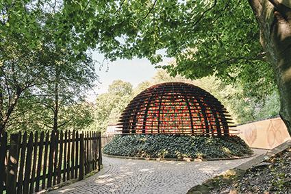 """Giardini di Castel Trauttmansdorff, il padiglione """"Le piante d'autunno"""""""