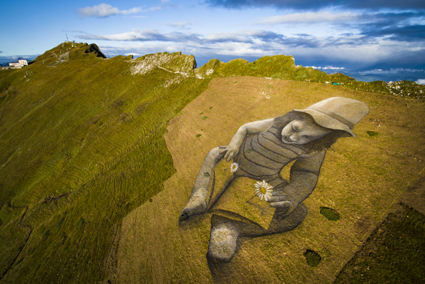 Saype, A Story of the Future, 2017, Rochers de Naye (Montreux), 6mila mq