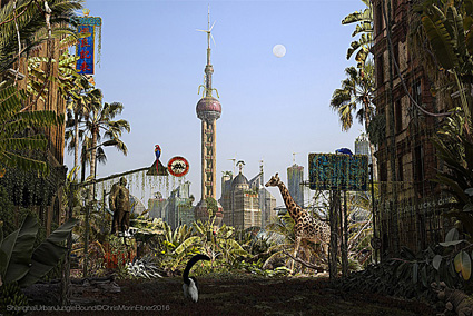 Chris Morin-Eitner, Shanghai con al centro l'Oriental Pearl Tower