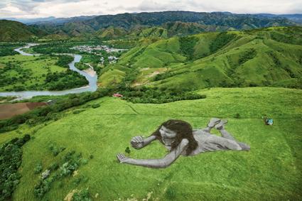 Saype, Take Care for Future, Huila (Colombia) per il calendario Lavazza 2019