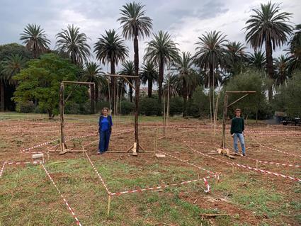 I lavori in progress per il labirinto edule di Villa Tasca
