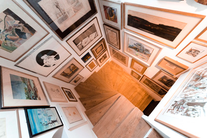 Romantik hotel Turm, la galleria d'arte nella torre