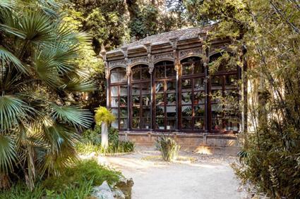La serra di Villa Tasca, Palermo
