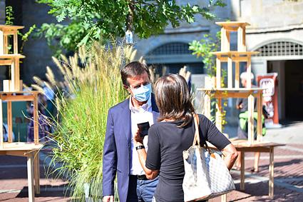 Il sindaco di Bergamo, Giorgio Gori, al Landscape Festival (ph. Mirko Pizzaballa)