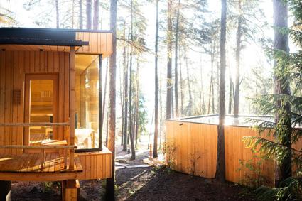 Adler Lodge Ritten, sauna nei boschi del Renon