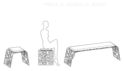 Panca e Sgabelli Credit: Studio Pozzi