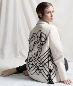 decorazioni su giacca (modella)