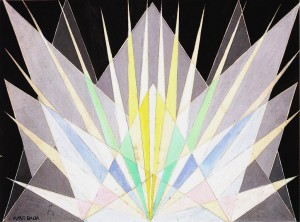 Balla - Compenetrazione iridescente radiale -