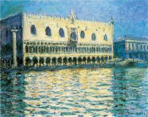 Monet Claude -Palazzo ducale a Venezia