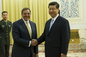Sulla destra Xi Jinping Photo by Secretary of Defense
