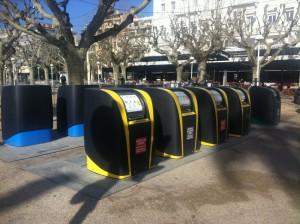 Sistema di differenziata a Cannes