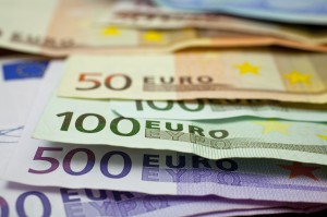 Euros of various denominations