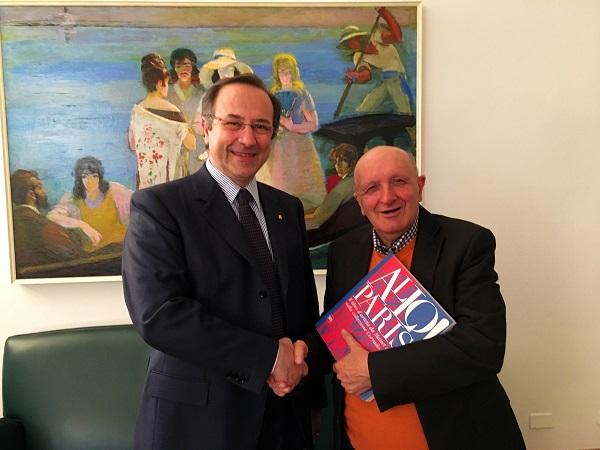 Il Presidente di Fondazione Cariparma Prof. Paolo Andrei con il Prof. Corrado Mingardi