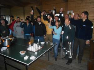 Festa per i partenti al pinguinatoio