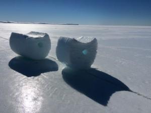 Giorno 41 - i tappi di ghiaccio sul pack