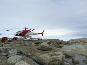 """Giorno 69 - Foto degli elicotteri e del paesaggio tetro durante la passeggiata """"medica"""""""