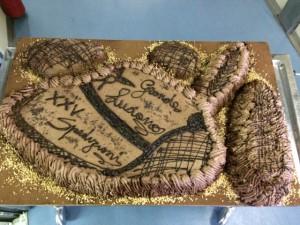 Giorno 74 - torta a forma di cappello alpino per il carpentiere