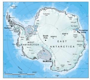 antarctica mappa