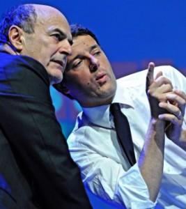 Premier Renzi and Pier Luigi Bersani