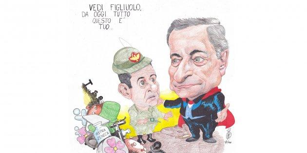 "The general's name sounds very like ""figliolo"", dear boy"". Draghi Now, dear boy, all this is yours""."