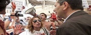 Gli Animalisti Italiani contestano Ignazio Marino, candidato sindaco di Romaa