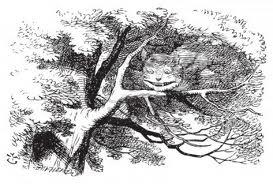 Il Gatto del Chesire da Alce den Paese delle Meraviglie di Lewis Carrol