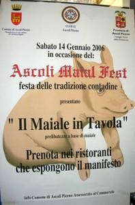 Da 15 anni ad Ascoli Piceno si svolge il Maial Fest, tre giorni promossi dalle istituzioni locali dedicati a festeggiare lo sfruttamento dei maiali con gare di animali vivi e giochi allusivi riservati alle sole donne