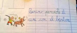 Una maestra di Varese, assai contestata, ha scelto un esempio diseducativo e di cattivo gusto per insegnare agli alunni ortografia e significato del verbo percuotere