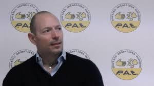 Stefano Fuccelli, leader del PAE-Partito Animalista Europeo, candidato alle Europee con il Partito Animalista