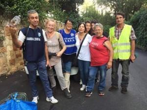 La squadra del salvataggio, ultimo a destra Nicola Corradi.