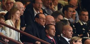 Barbara Berlusconi, Fedele Confalonieri, Silvio Berlusconi e Adriano Galliani a San Siro