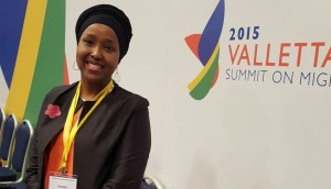 Mariam Yassin Hagi Yussuf, Inviata Speciale per i diritti dei minori e dei migranti del Governo somalo del PM Ali Sharmarke