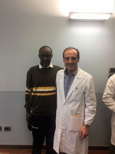 Ahmed con il Dr. Adolfo Cuomo