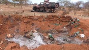 Il campo keniano di El Adde dopo l'attacco degli Al Shabab