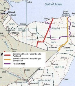 Le regioni contese tra Somaliland e Puntland
