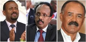 I tre leader di Etiopia, Somalia e Eritrea