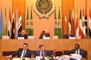 Il Ministro degli esteri somalo Ahmed Isse Awad si insedia alla presidenza del Consiglio della Lega Araba il 6 marzo 2019