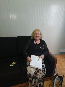 La Viceministra Emanuela Claudia Del Re all'arrivo a Mogadiscio - Foto Shukri Said