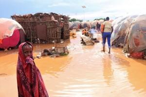 L'alluvione alla periferia di Beledweyne - Foto Hiiraanonline