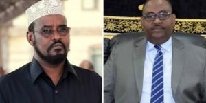 Ahmed Madobe Presidente del Jubaland a sinistra e Said Abdullahi Deni Presidente del Puntland a destra