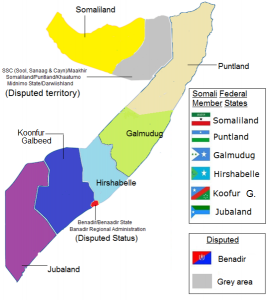 Gli Stati federati della Somalia