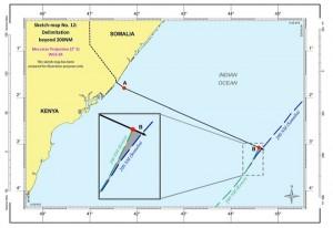 Il confine marittimo tra Somalia e Kenya in base al verdetto della Corte di giustizia internazionale