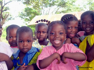 Happy children from Kamboussa please with their new water supply