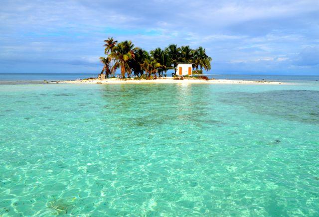 Isola del Mar dei Caraibi ideale per immersioni, Belize, Centro America