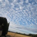 Il cielo delle mesetas nella regione spagnola Castilla Y Leon