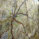 Le mappe dei Cammini di pellegrinaggio che arrivano a Santiago di Compostela