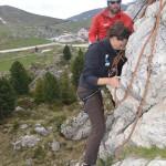 Climbing, test discesa Città dei Sassi, Val Gardena
